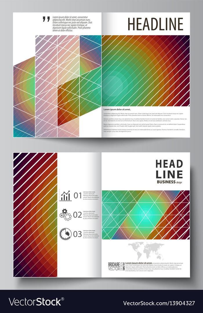 Business templates for bi fold brochure flyer