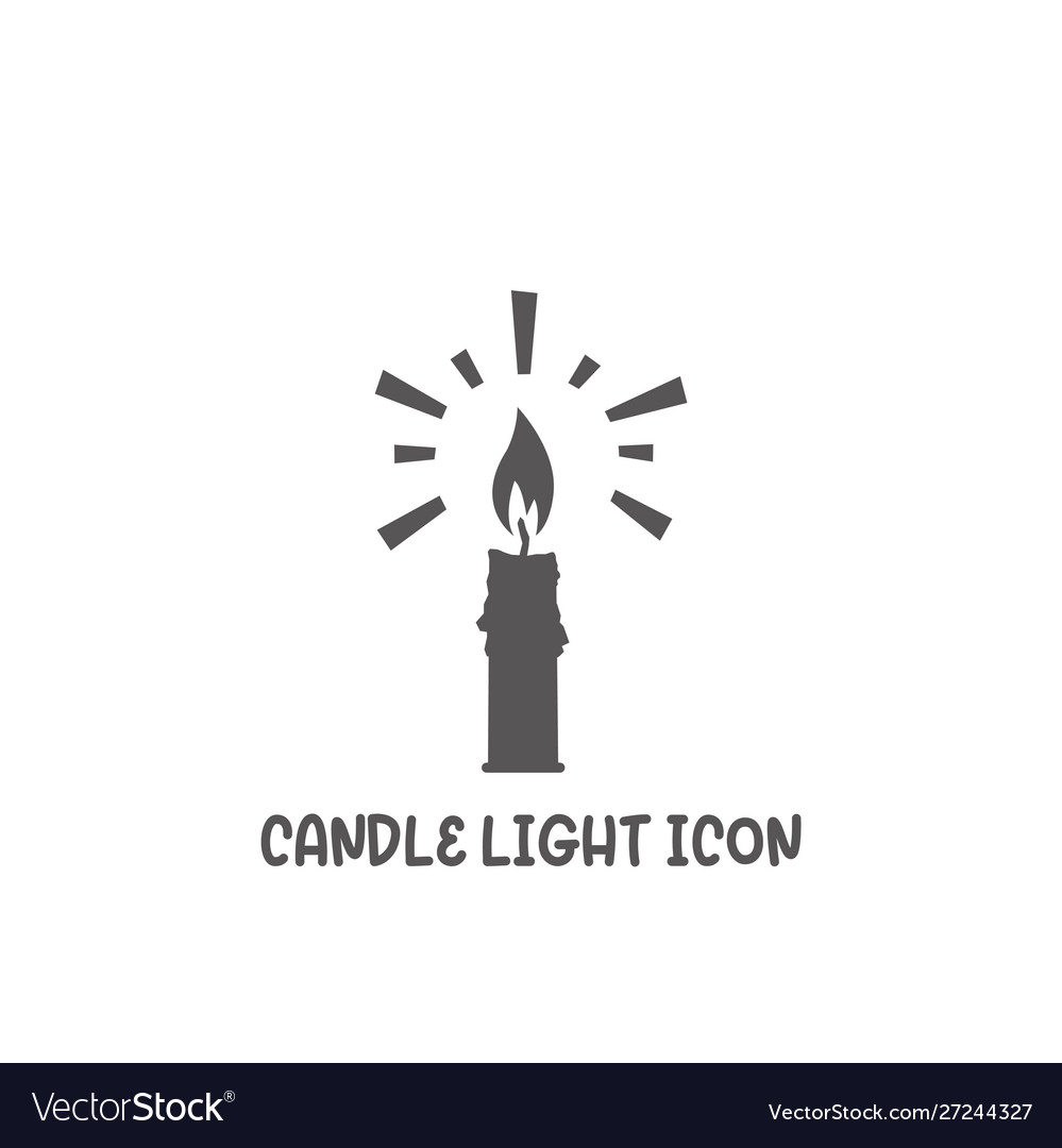 Candle light icon simple flat style