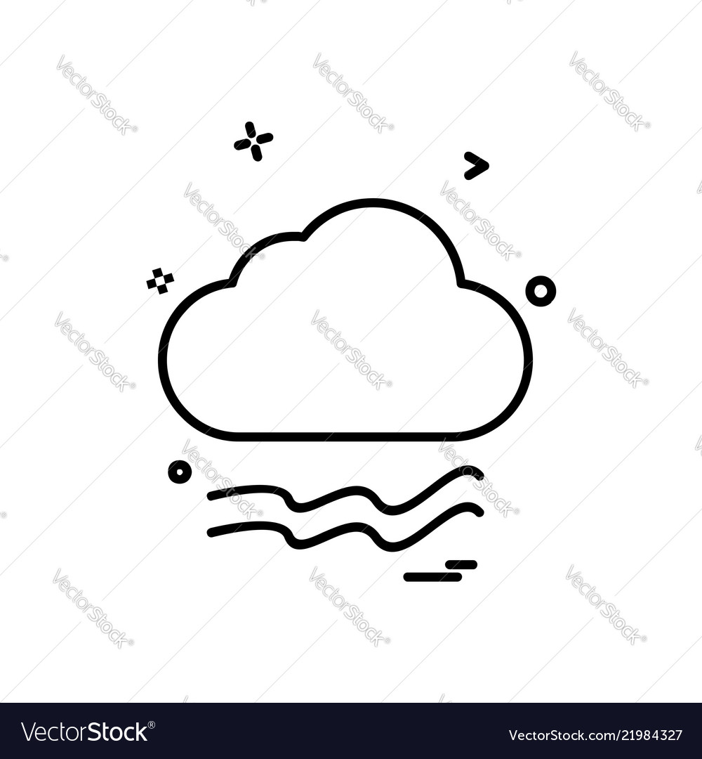 Cloudy weather icon design