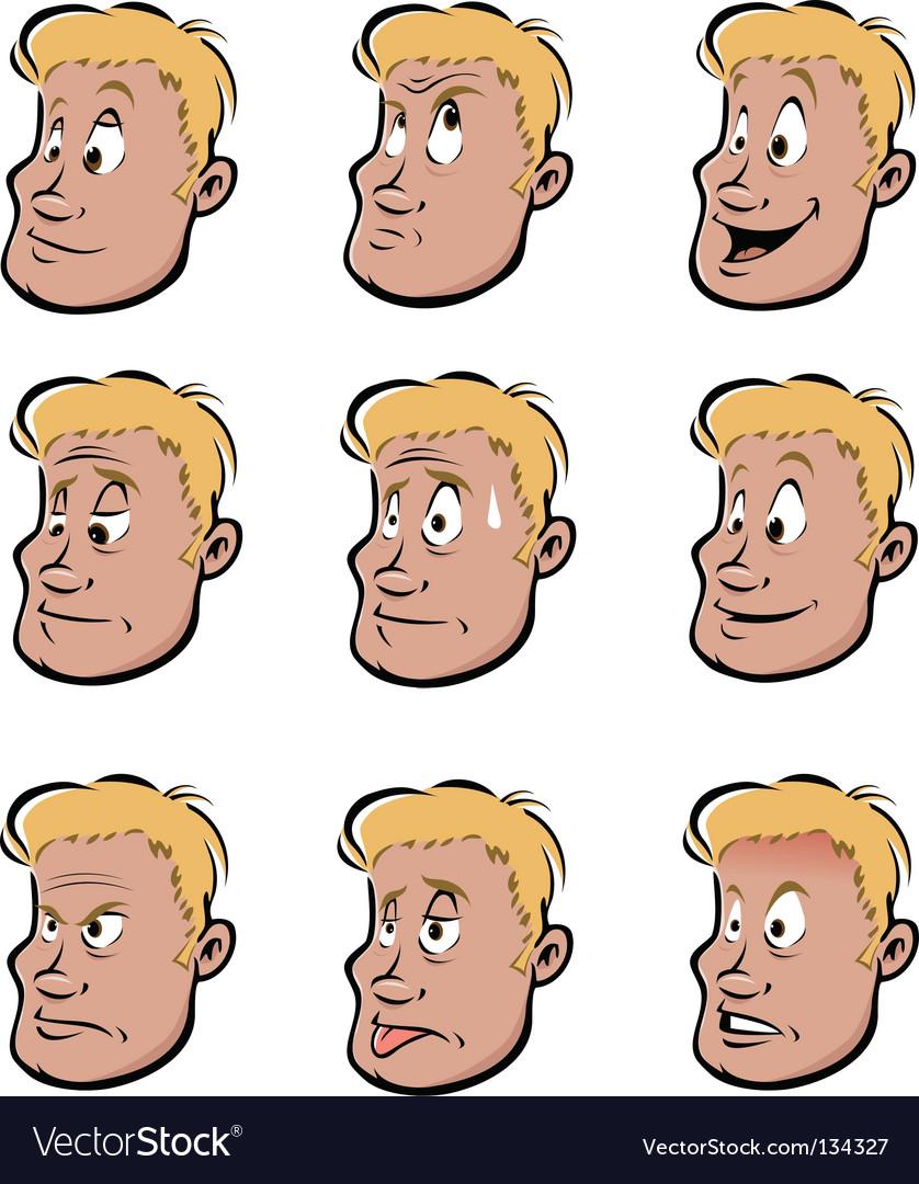 Facial expressions vector image