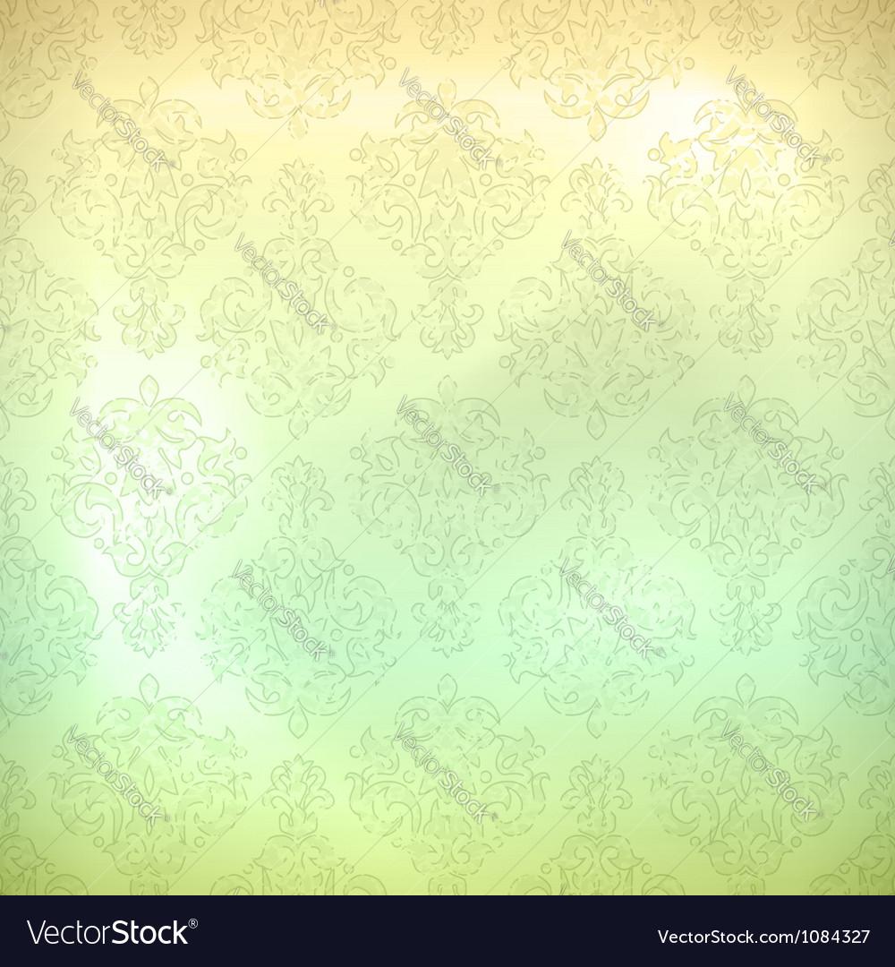 Grunge retro seamless pattern wallpaper vector image