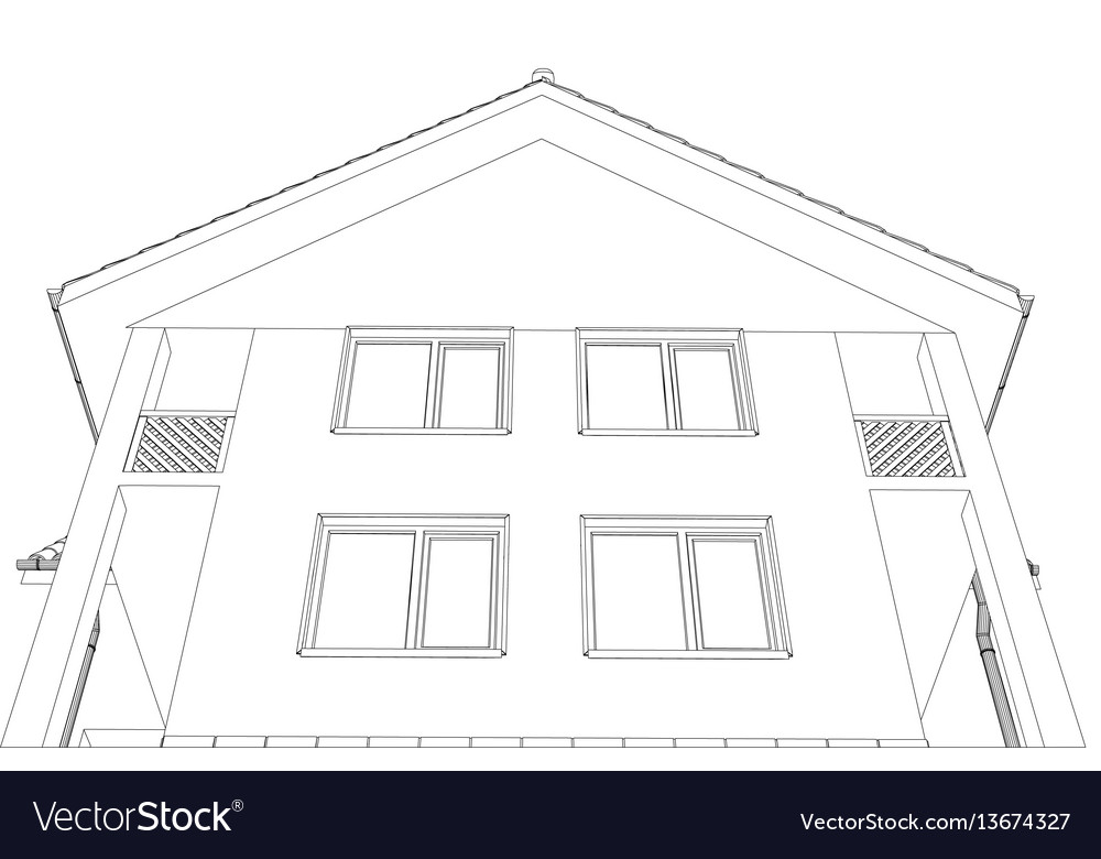 Outline house format vector image