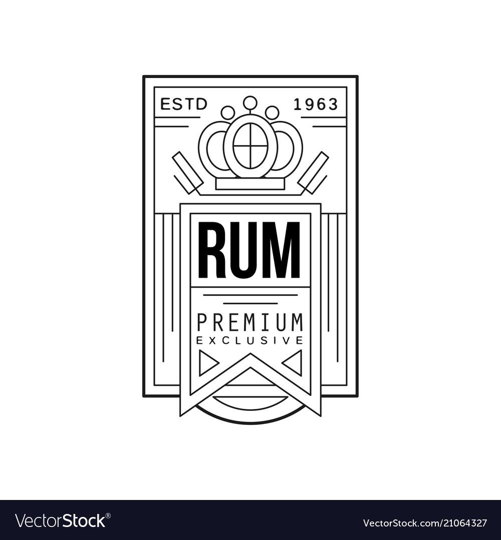 Rum vintage label design premium exclusive strong