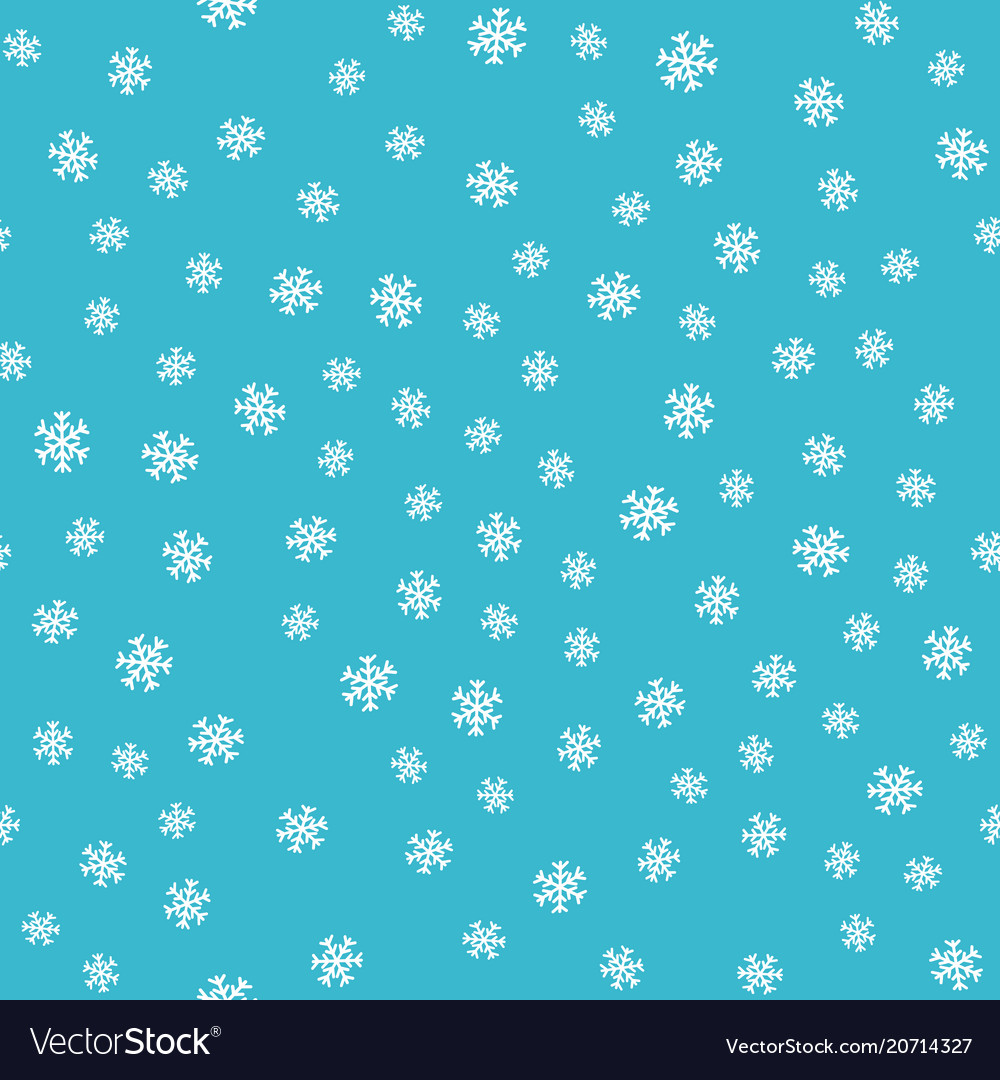 Seamless pattern snowflakes on blue background
