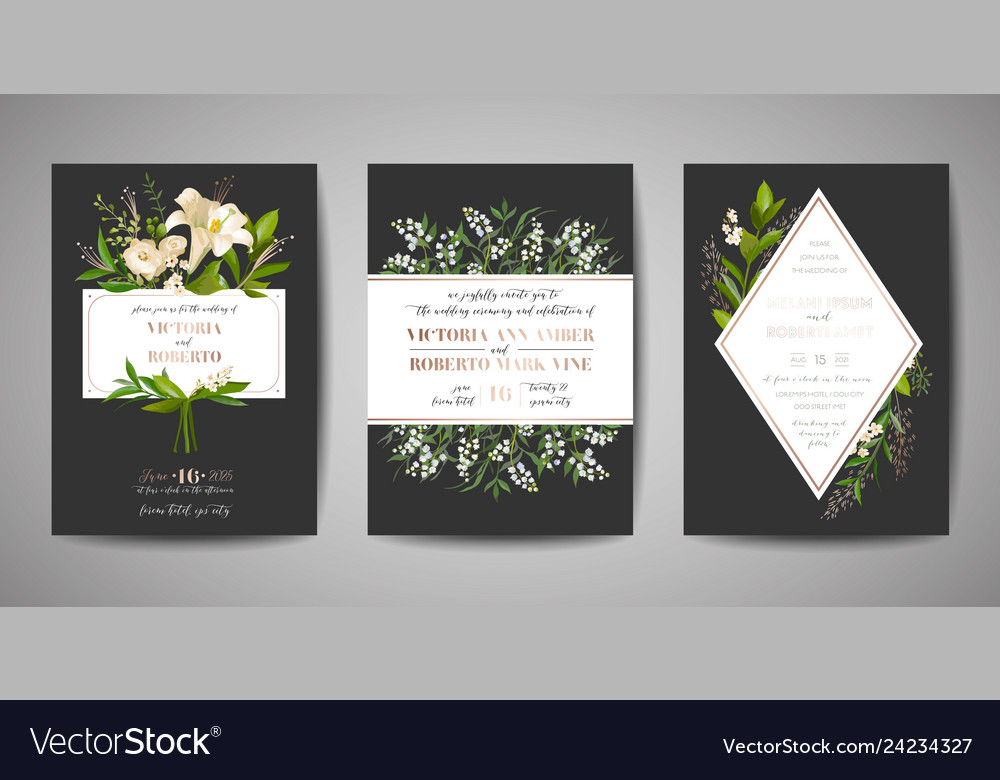 Wedding invitation floral invite rsvp card design