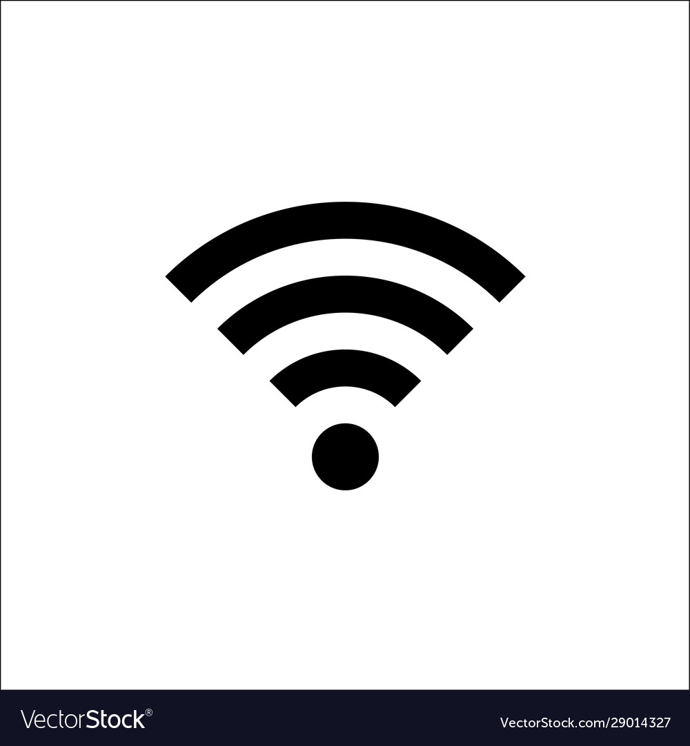 Wifi icon in trendy flat style isolated on white