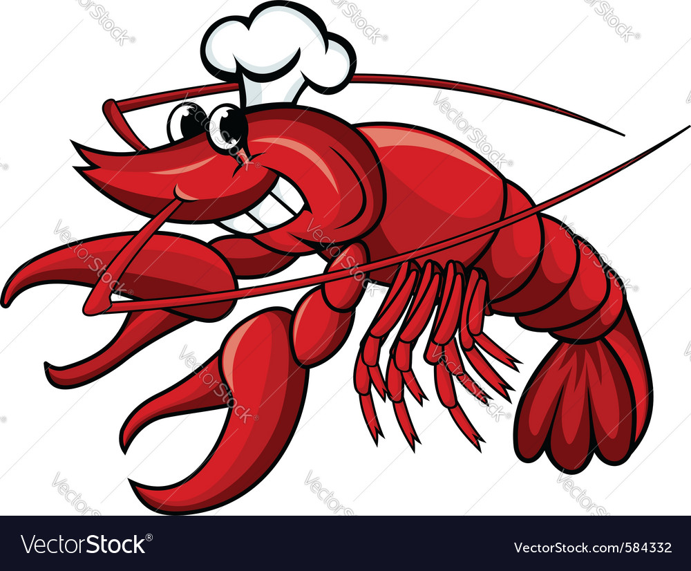 Crayfish or lobster vector image