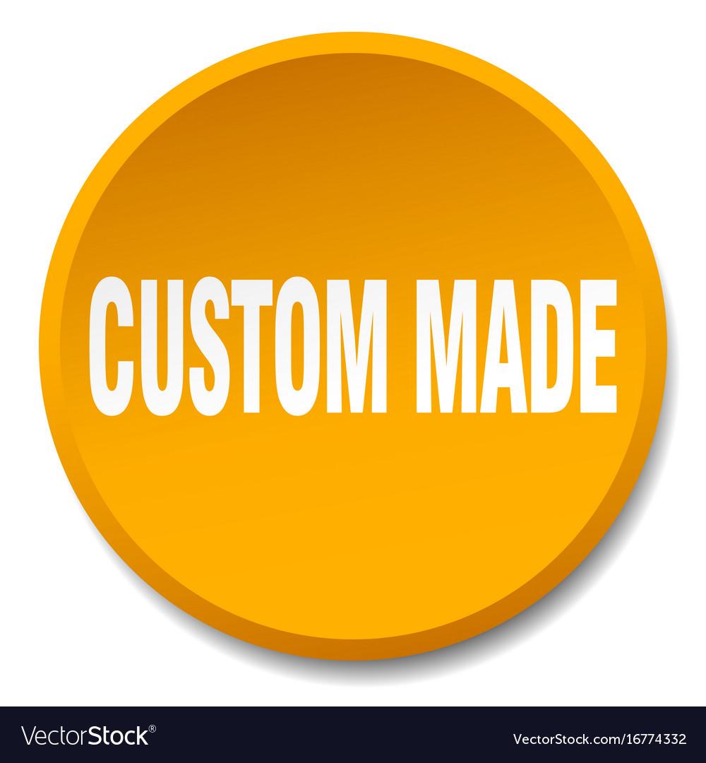 Custom made orange round flat isolated push button