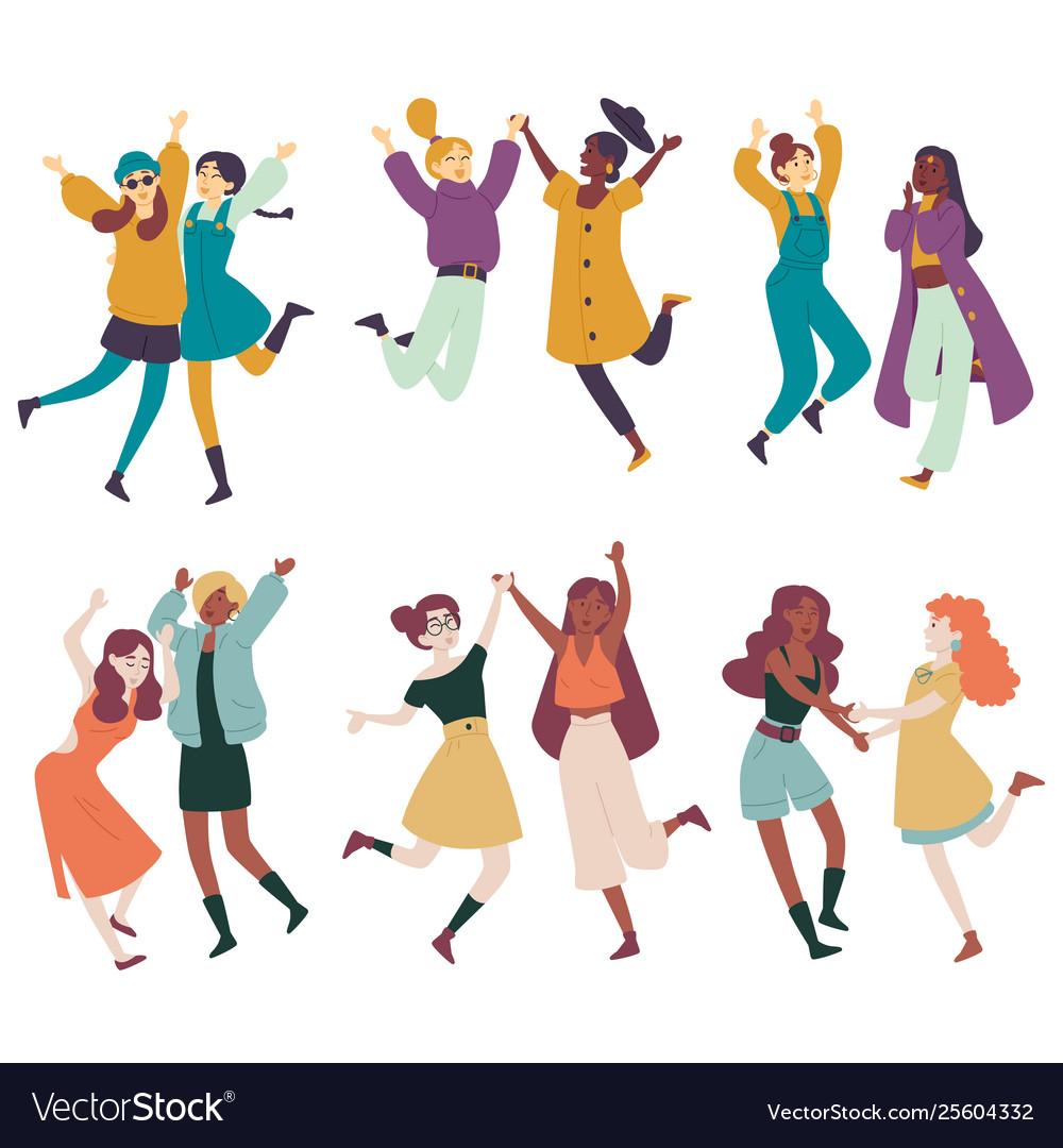 Diverse women having fun together multi ethnic