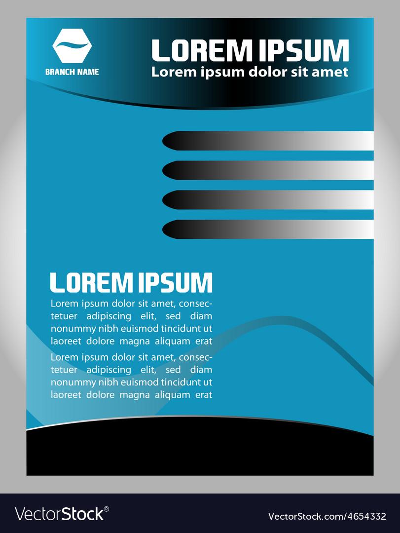 Flyer leaflet booklet layout design template