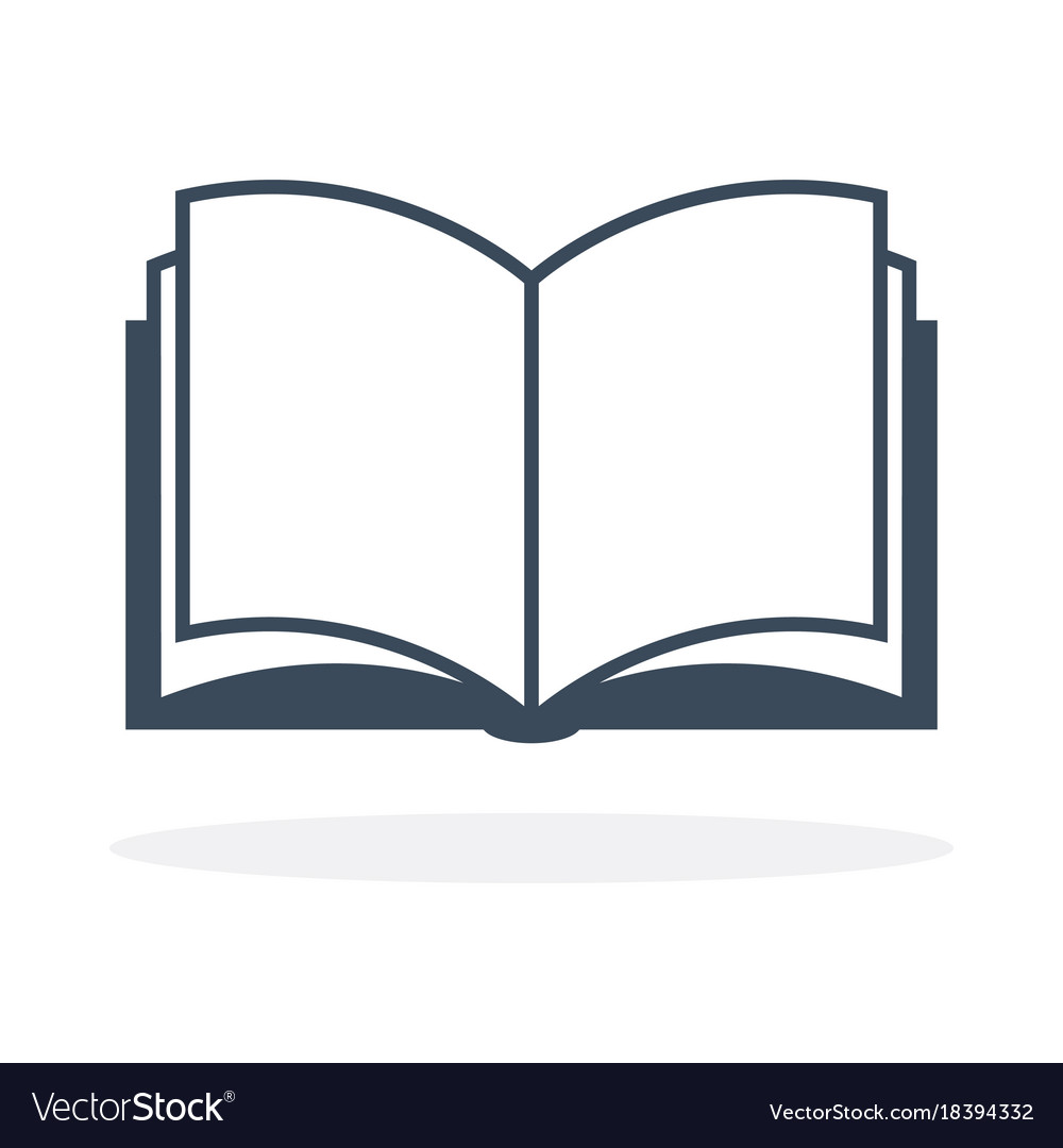 open book icon royalty free vector image vectorstock rh vectorstock com book flat icon vector open book vector icon