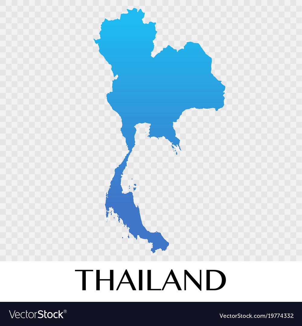 Thailand map in asia continent design