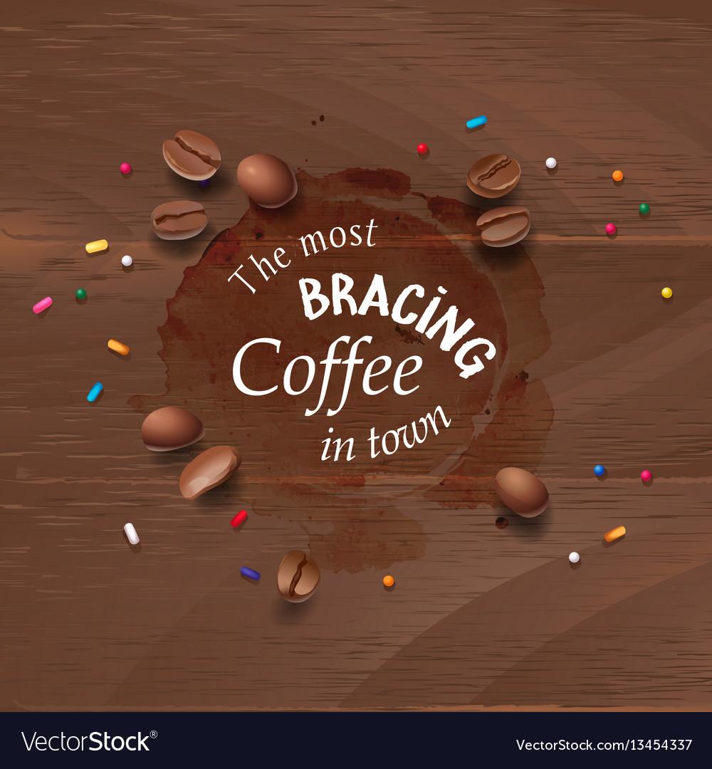 A coffee stain streaks