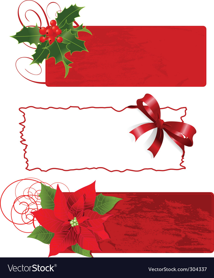 christmas banners frames royalty free vector image