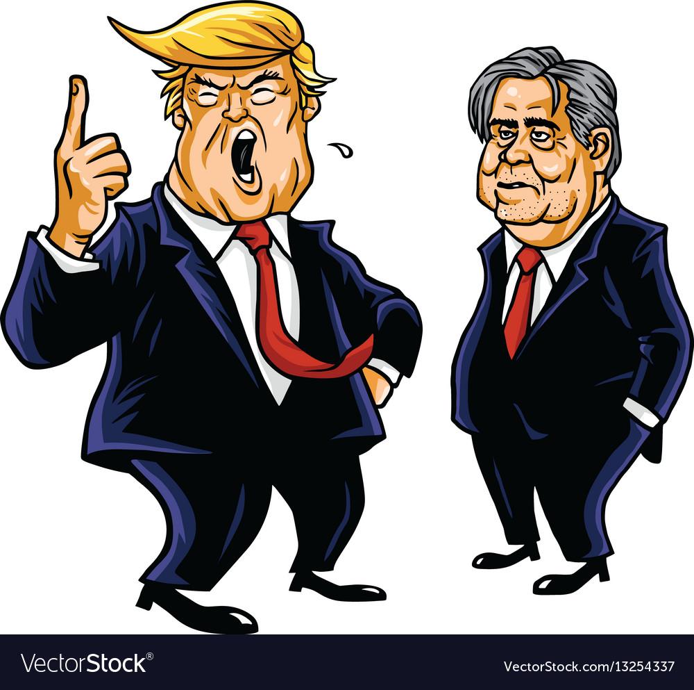 Donald trump and steve bannon cartoon