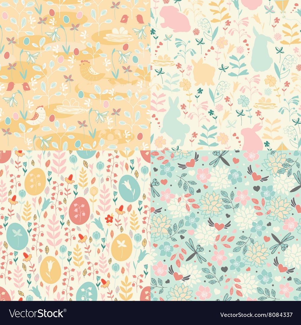 Easter set of patterns