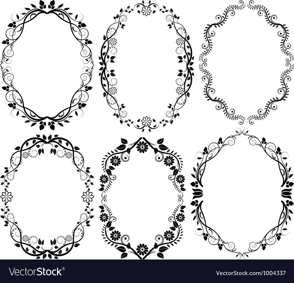 Oval Flower Border Vector - Flowers Healthy