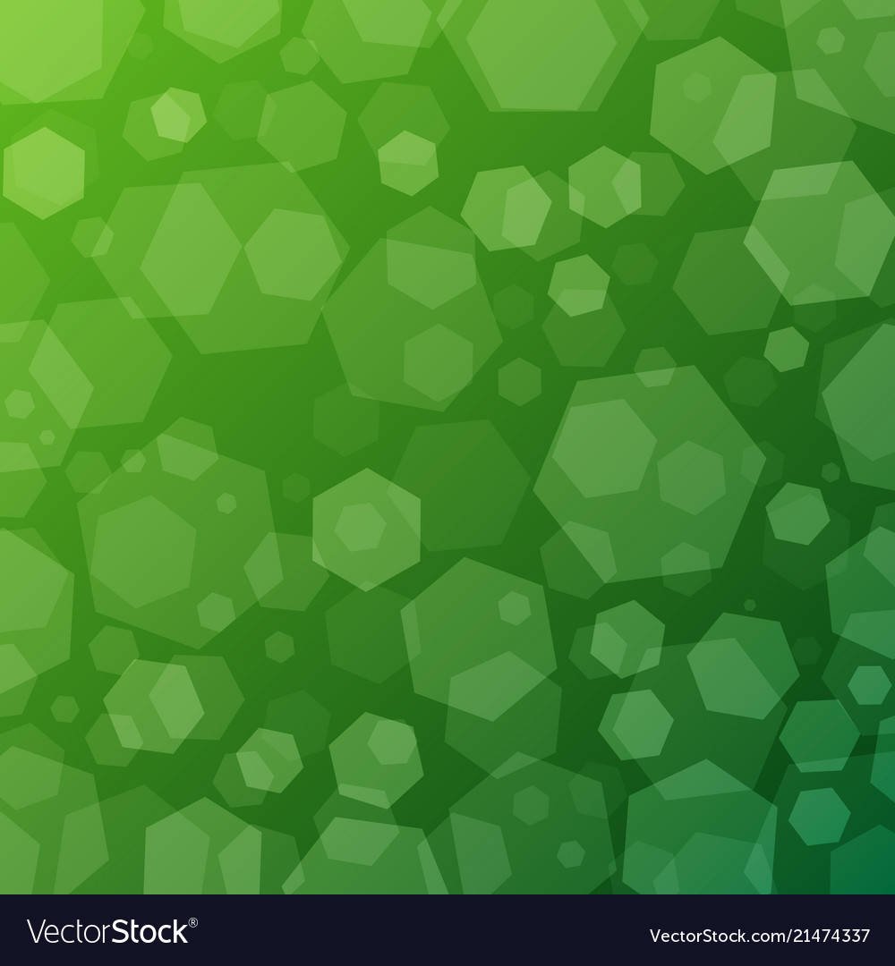 Green geometric abstract techno background with