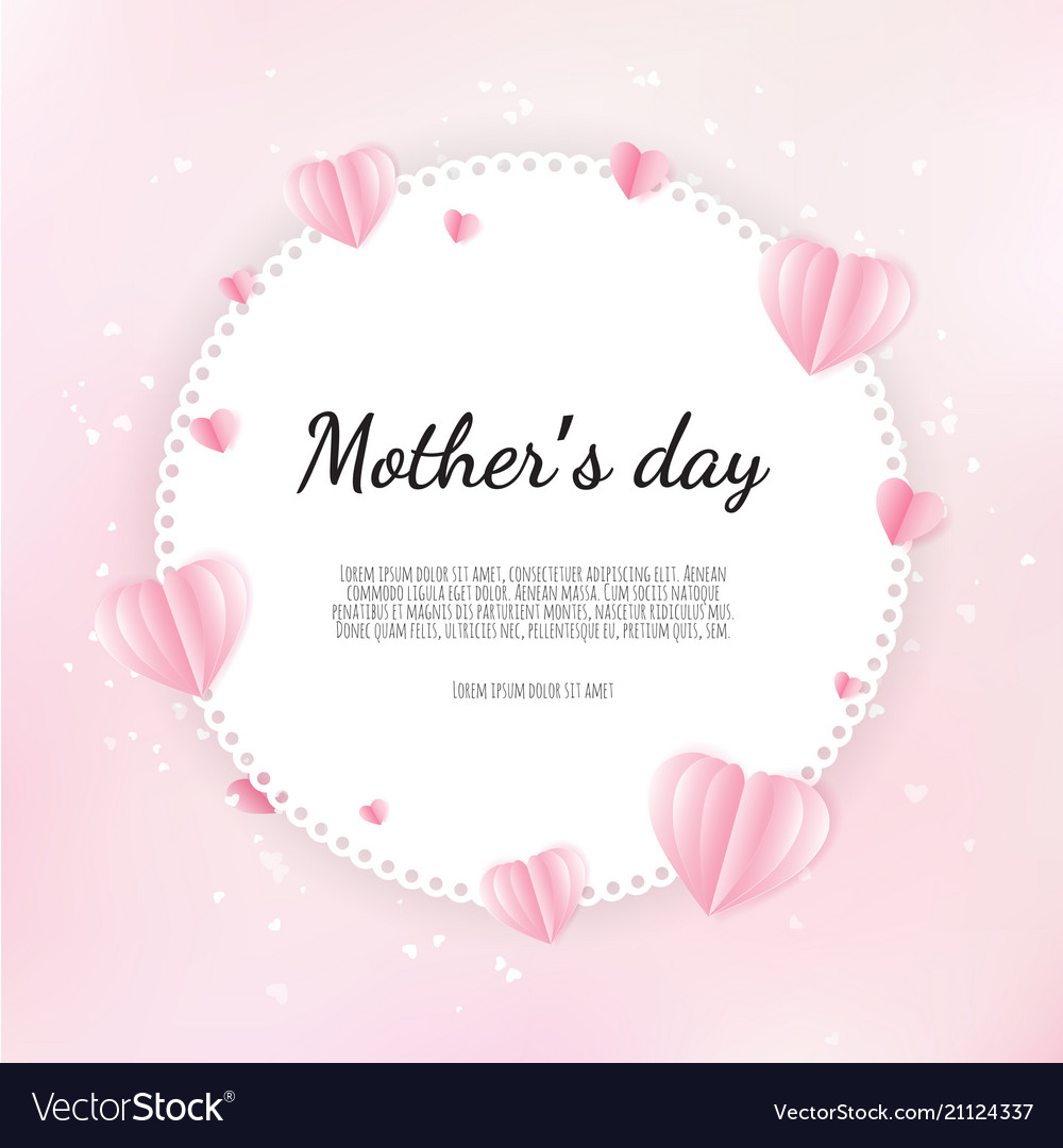Happy mother s day greetings design with paper