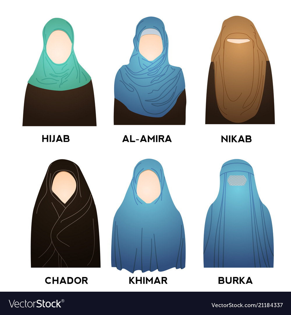 Hijab type models collection styles muslim woman