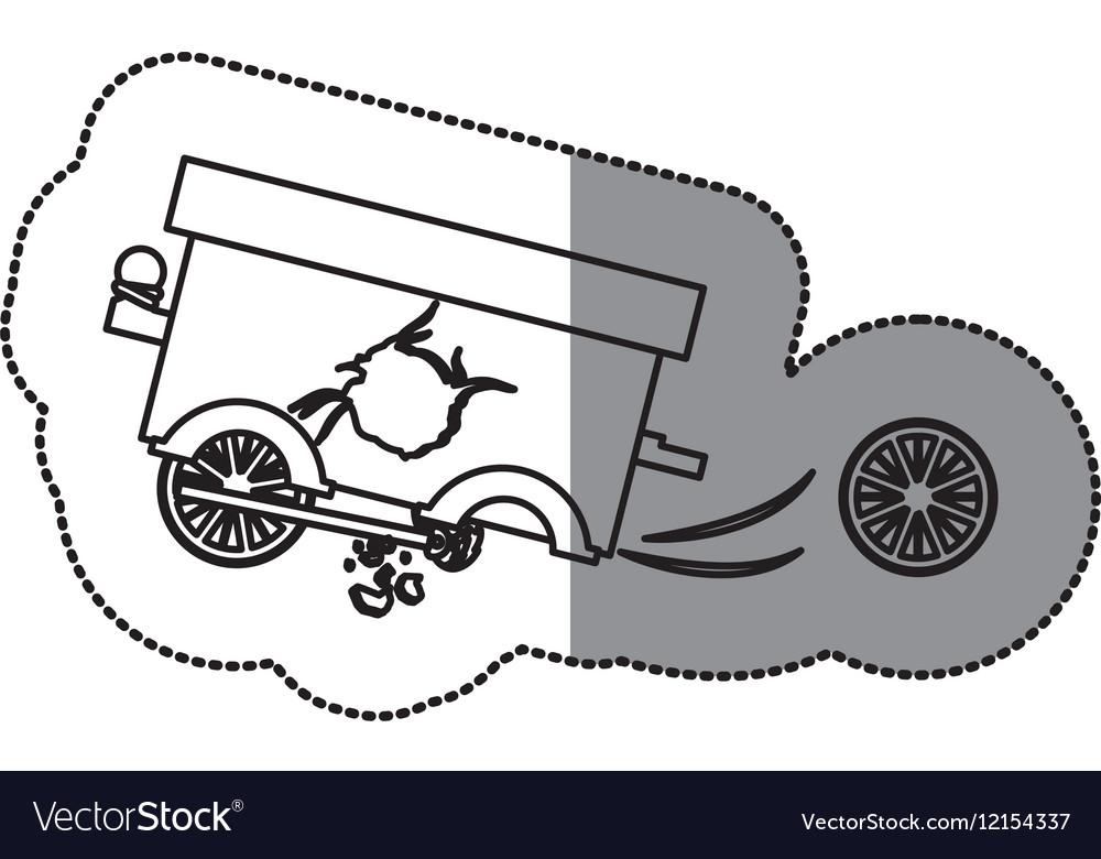 Isolated toy cart damaged design