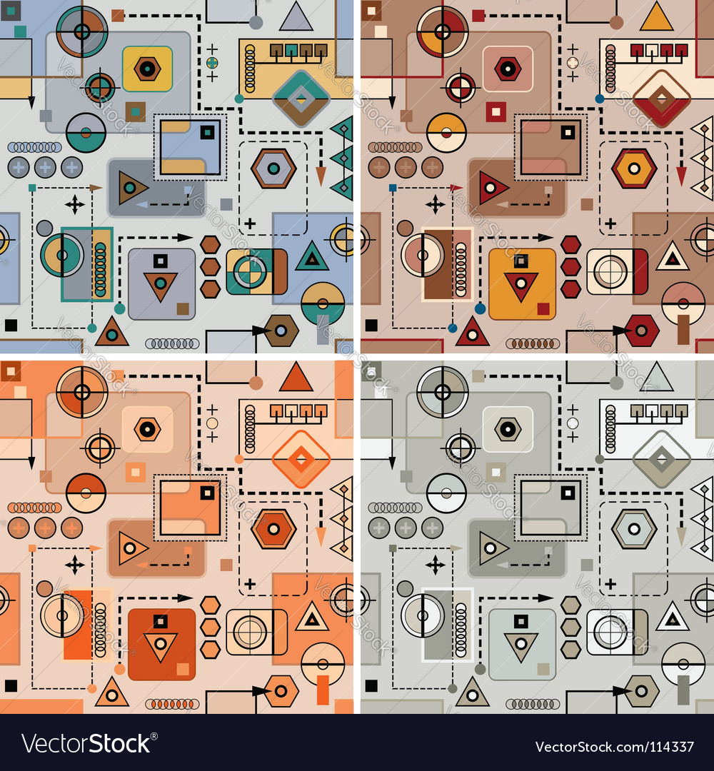 Mechanical pattern set vector image
