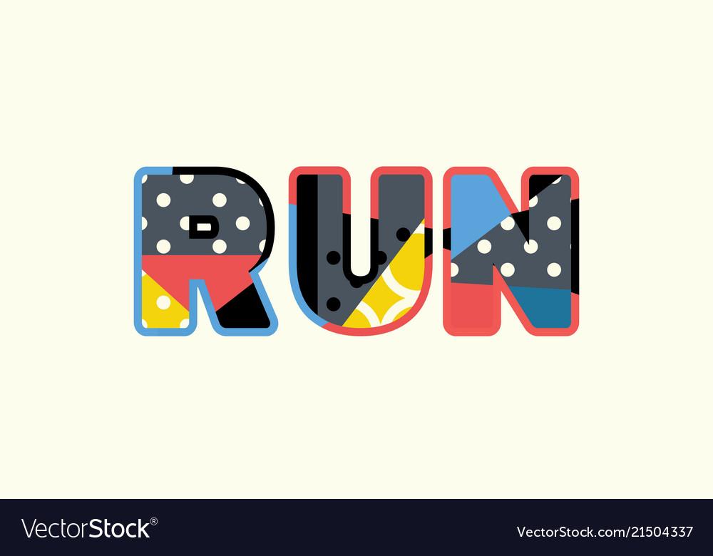 Run concept word art