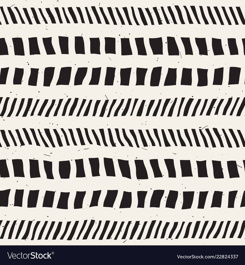 Seamless pattern with hand drawn brush strokes