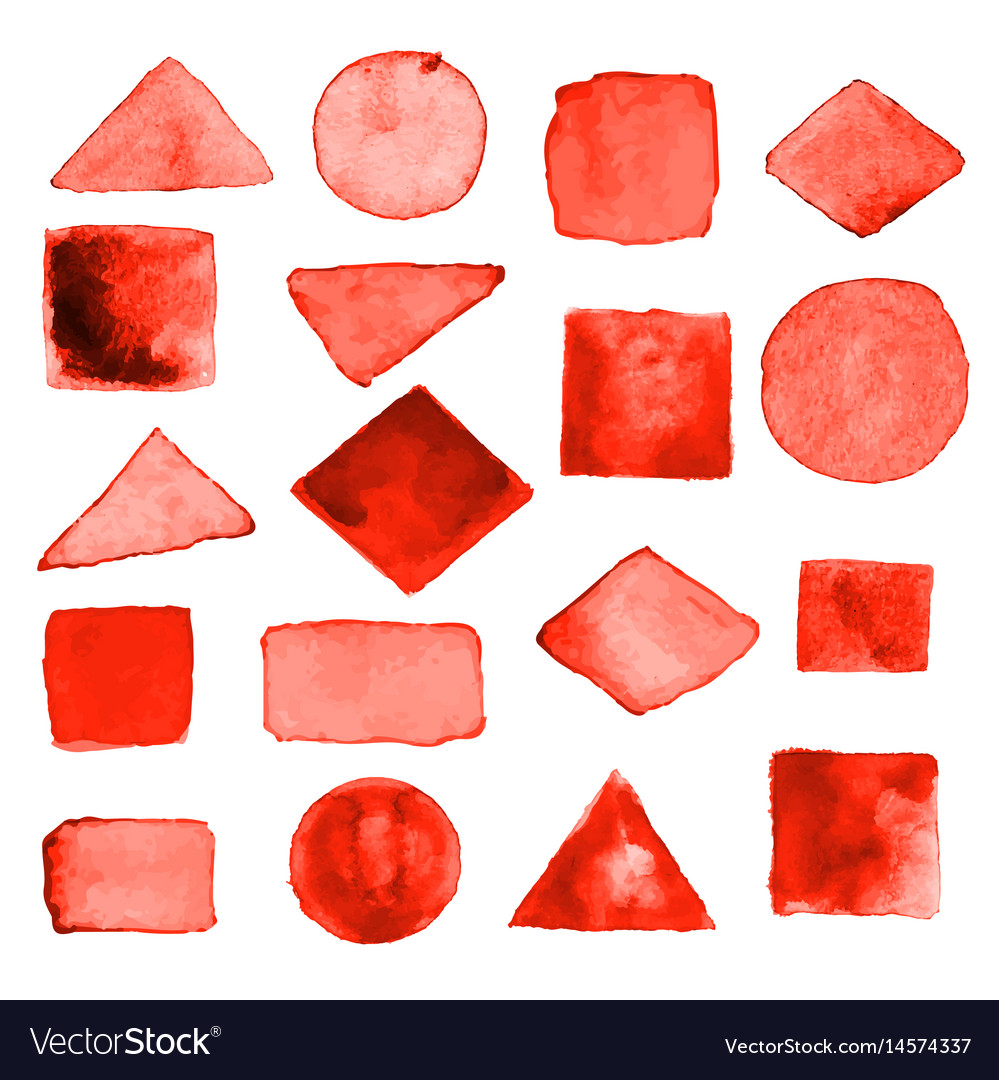 Watercolor geometric design elements16 vector image
