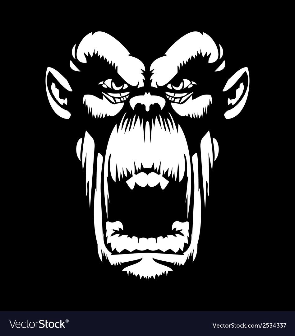 White gorilla face