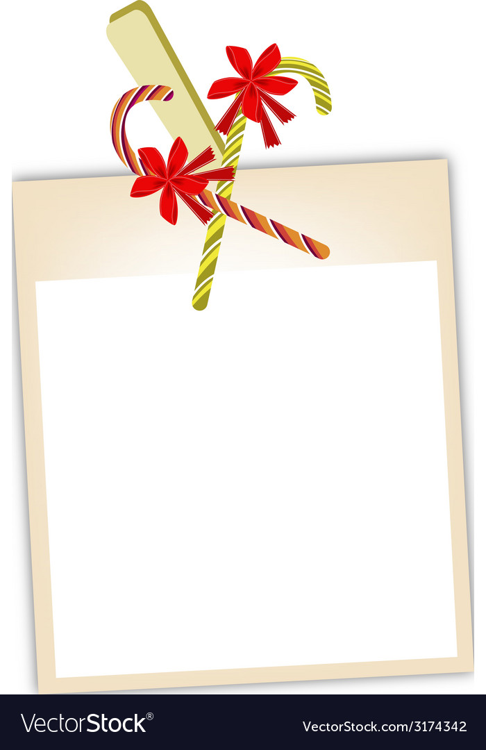 Blank Photos with Candy Canes vector image