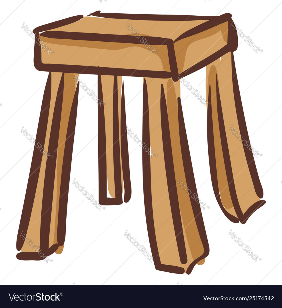 Fabulous Clipart A Wooden Stool Or Color Ncnpc Chair Design For Home Ncnpcorg