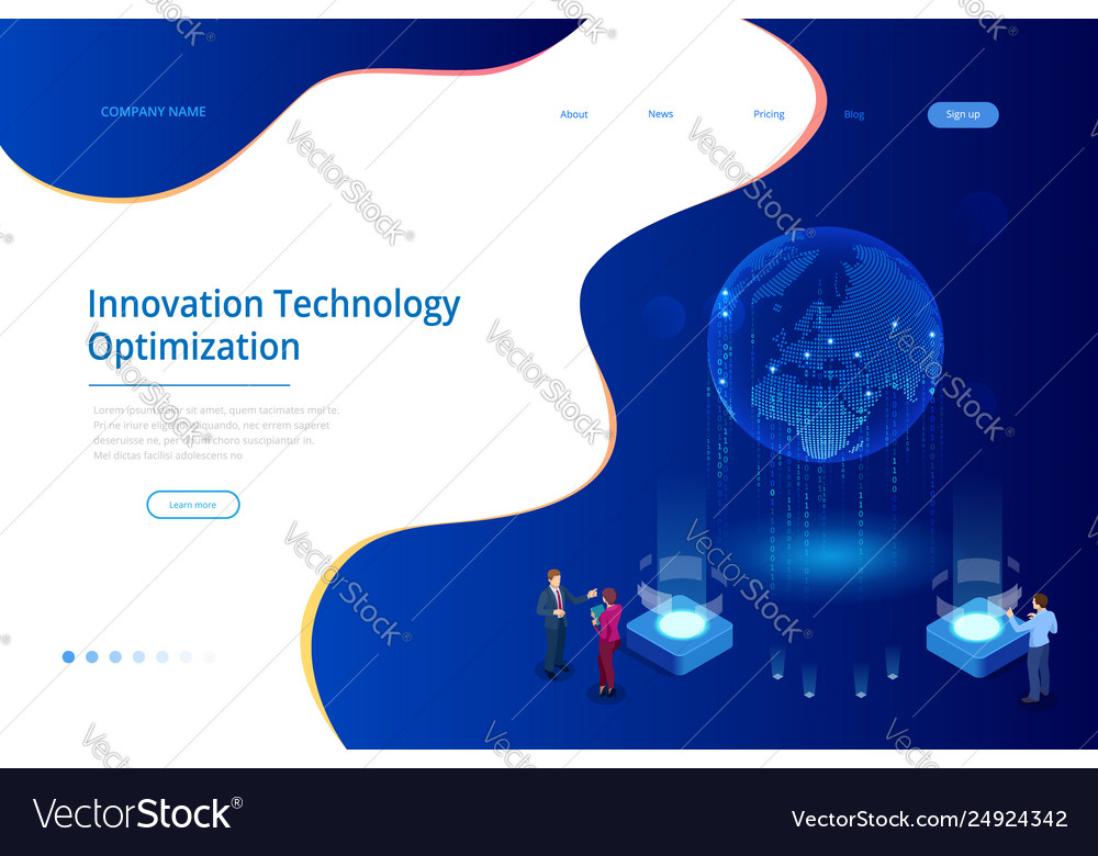 Isometric creative innovation technology concept