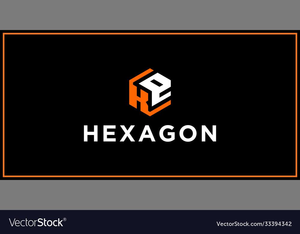 Ke hexagon logo design inspiration