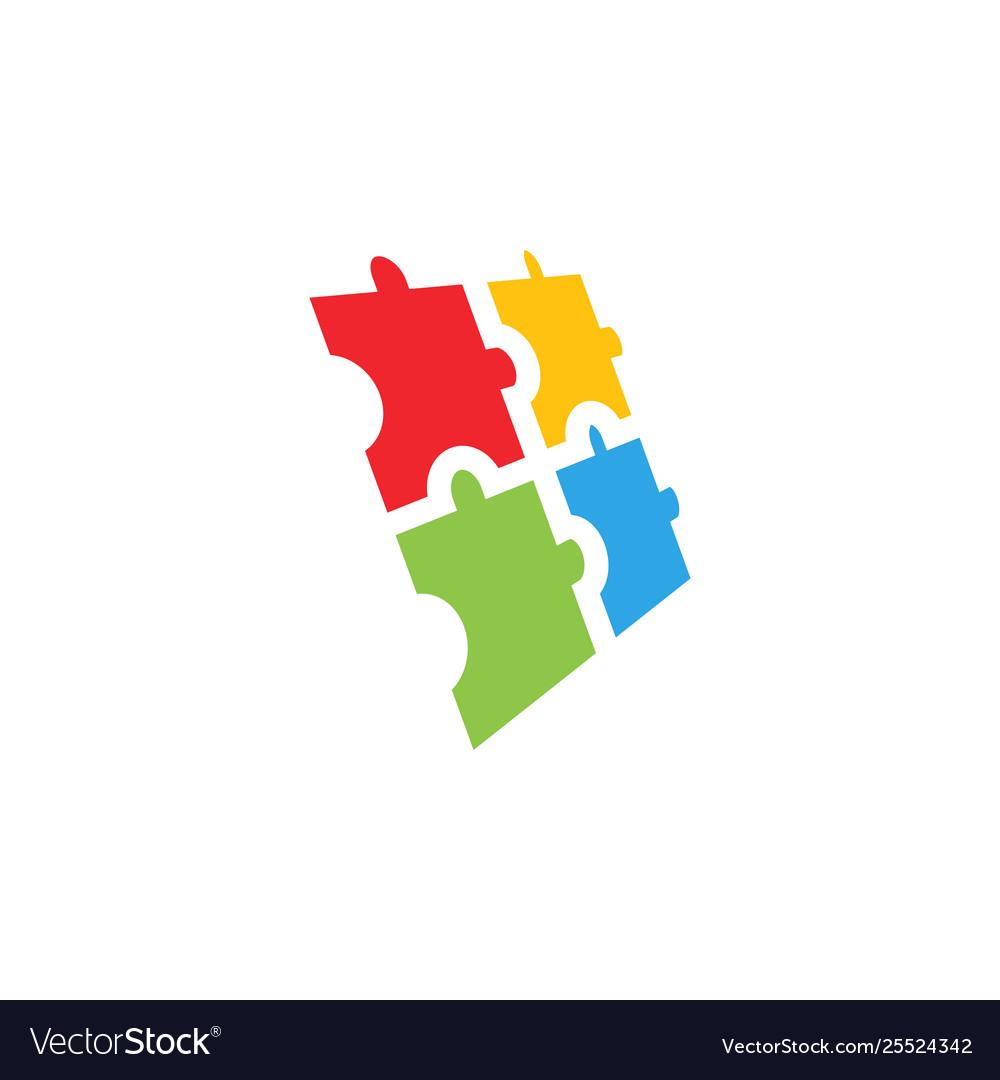 Puzzle icon graphic design template