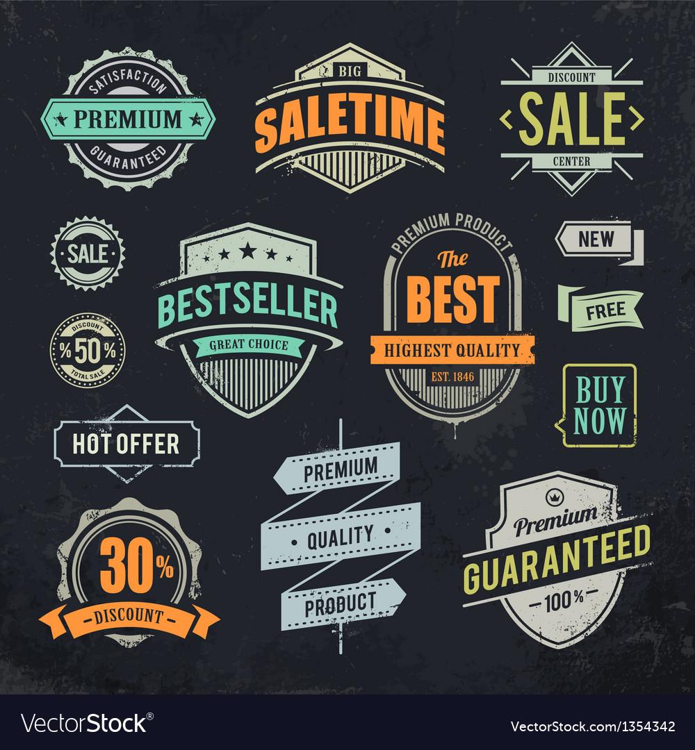 Sale Retro Labels
