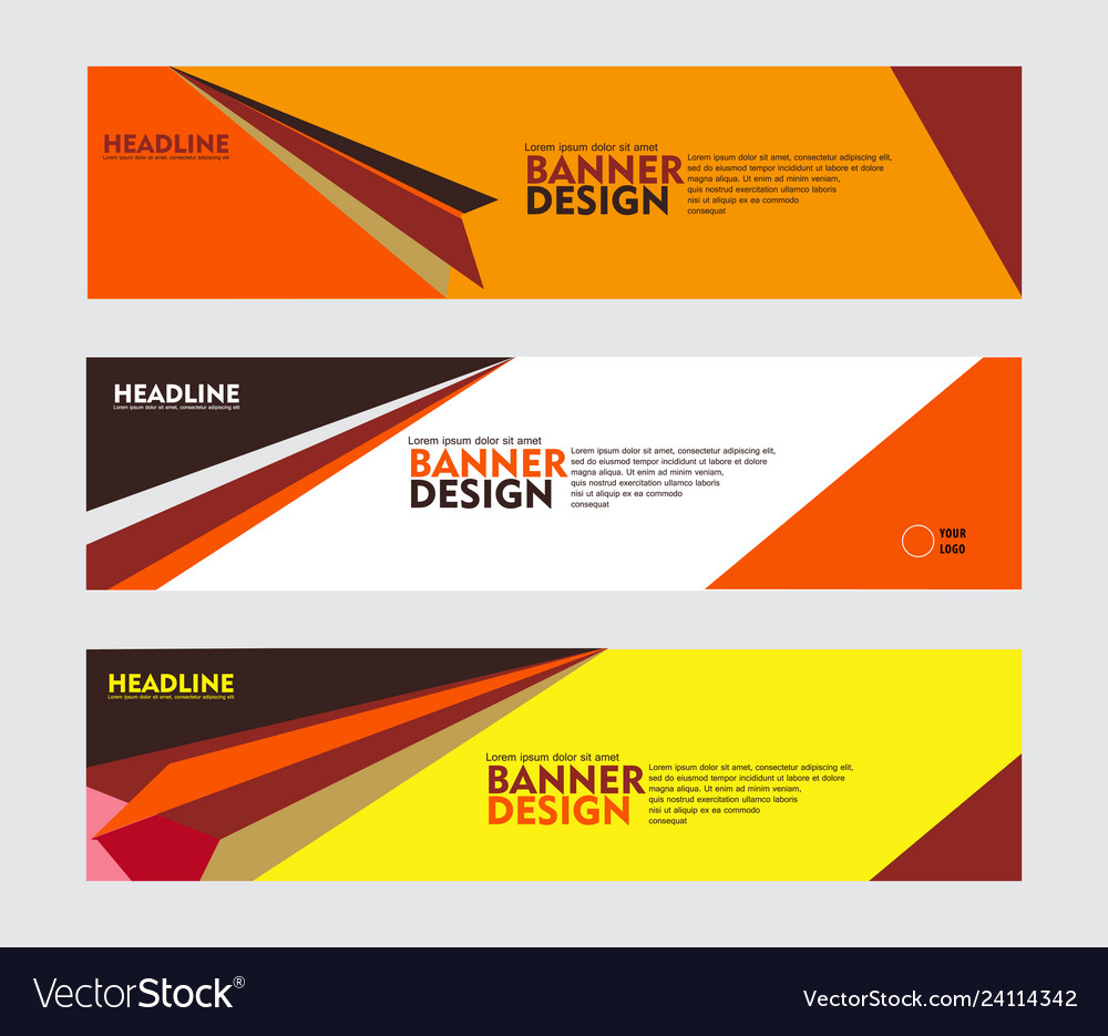 Set of banner design for web banner brochure