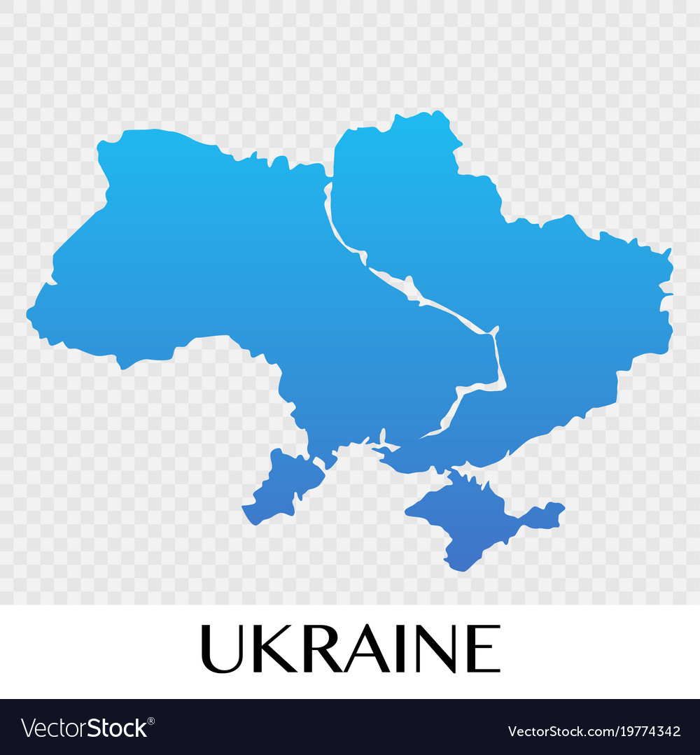 Ukraine On Map Of Europe.Ukraine Map In Europe Continent Design Royalty Free Vector