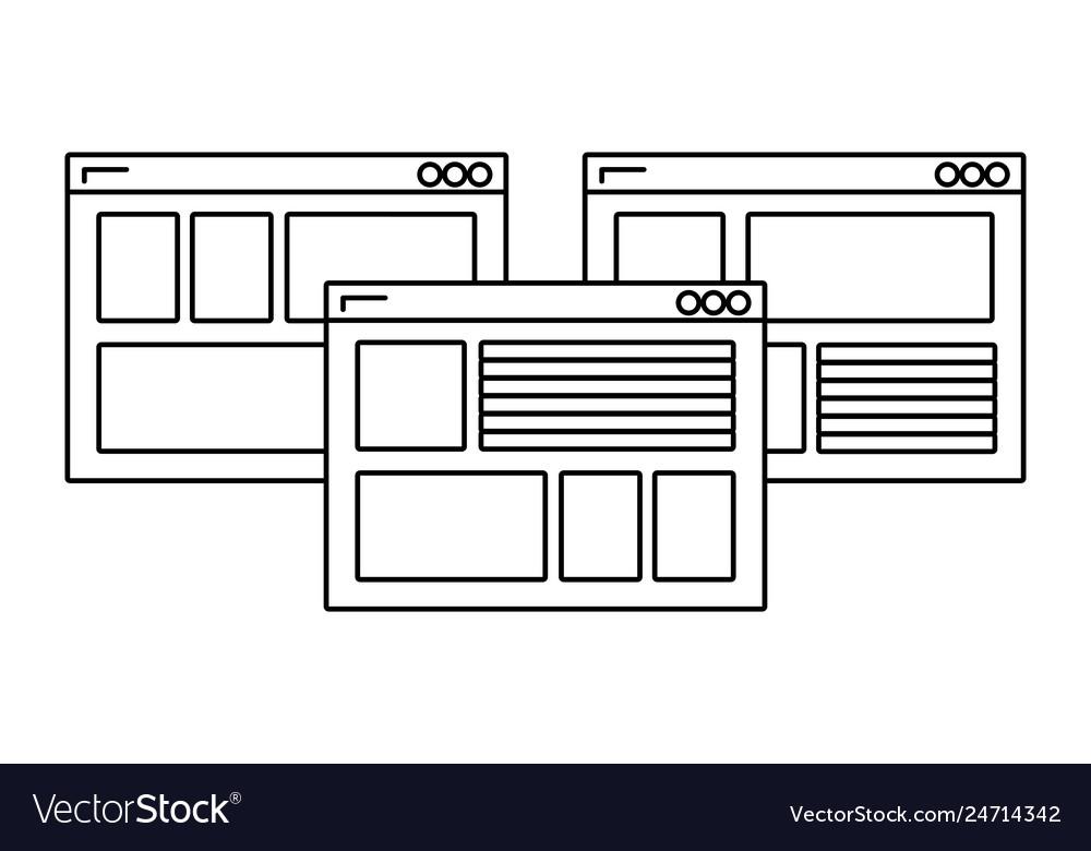 Web windows cartoon