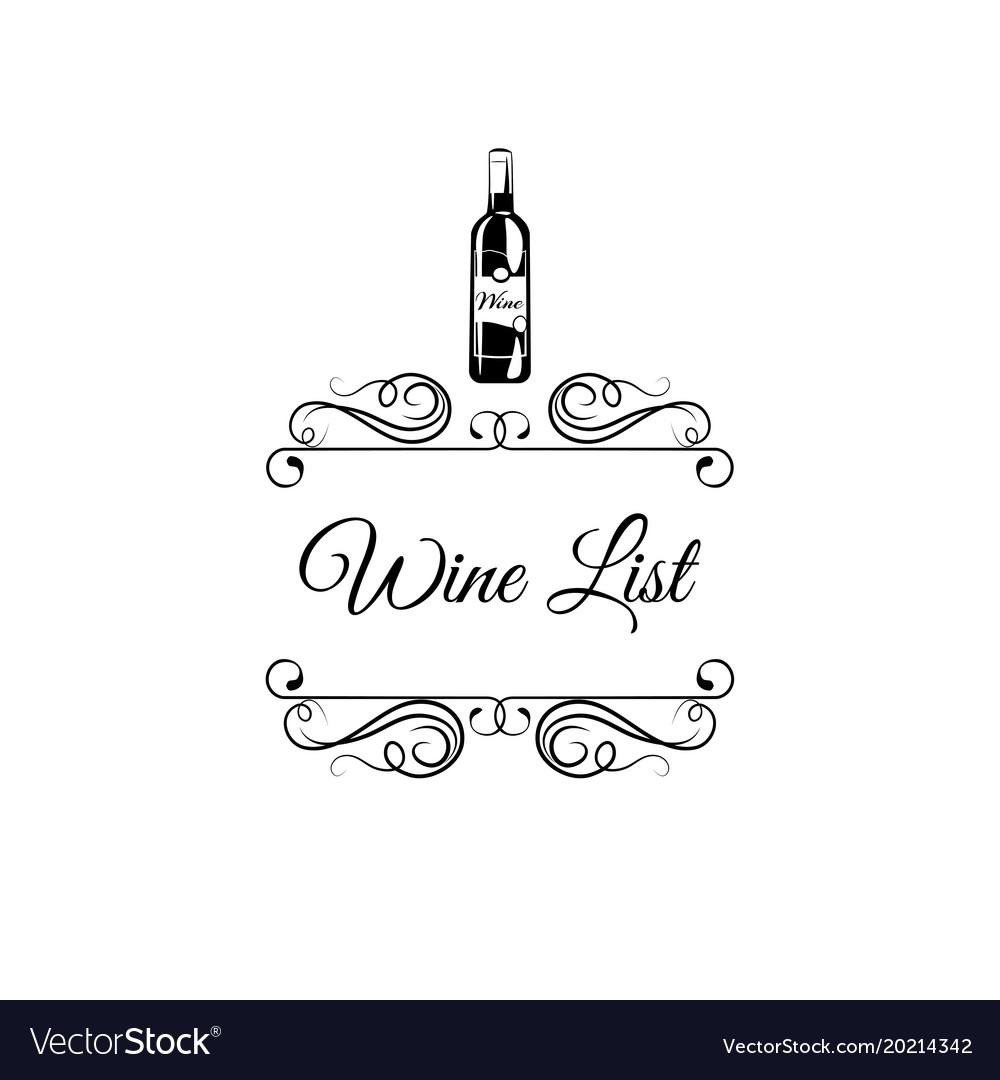 Wine label retro pattern