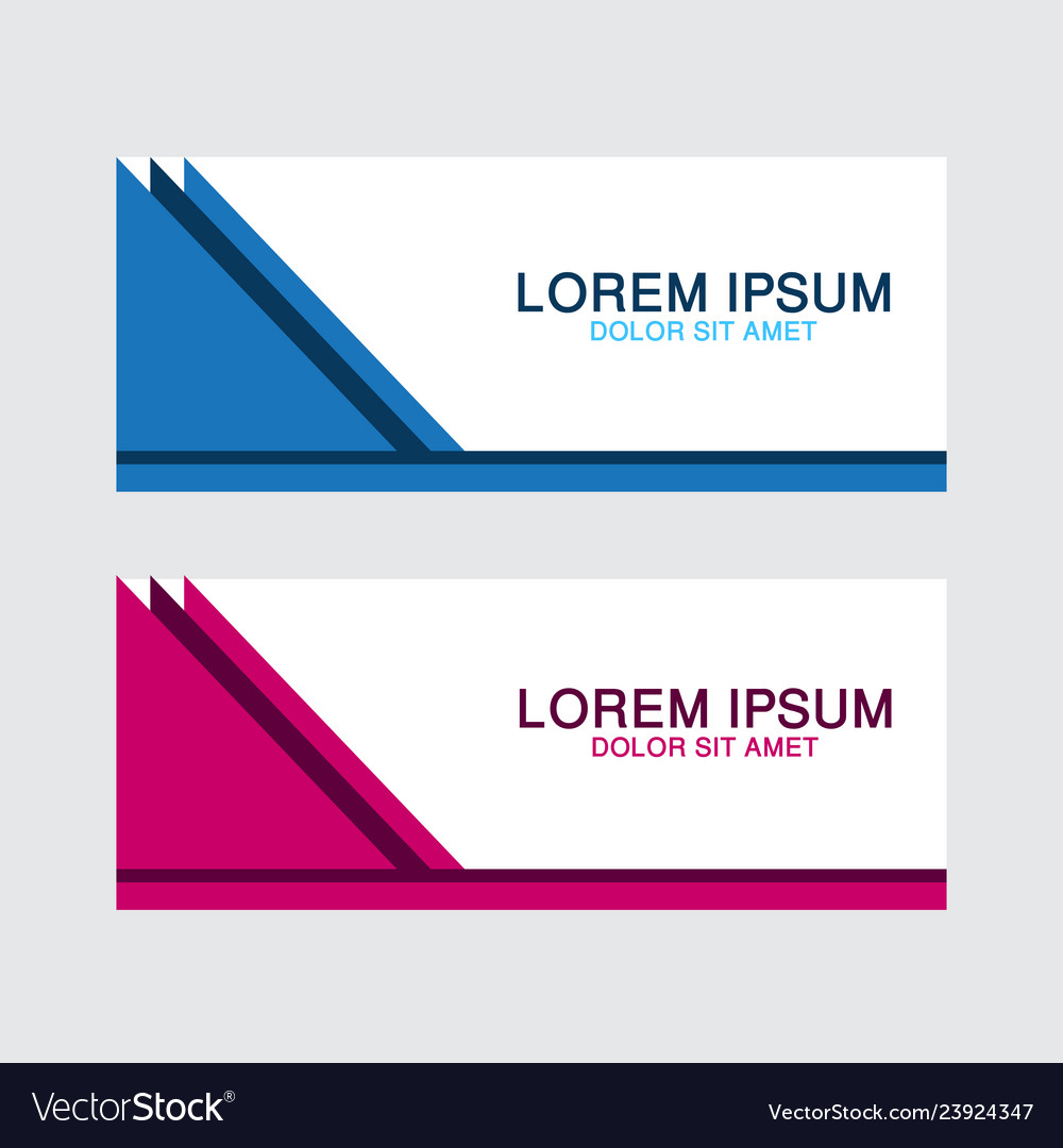 Abstract design banner web template