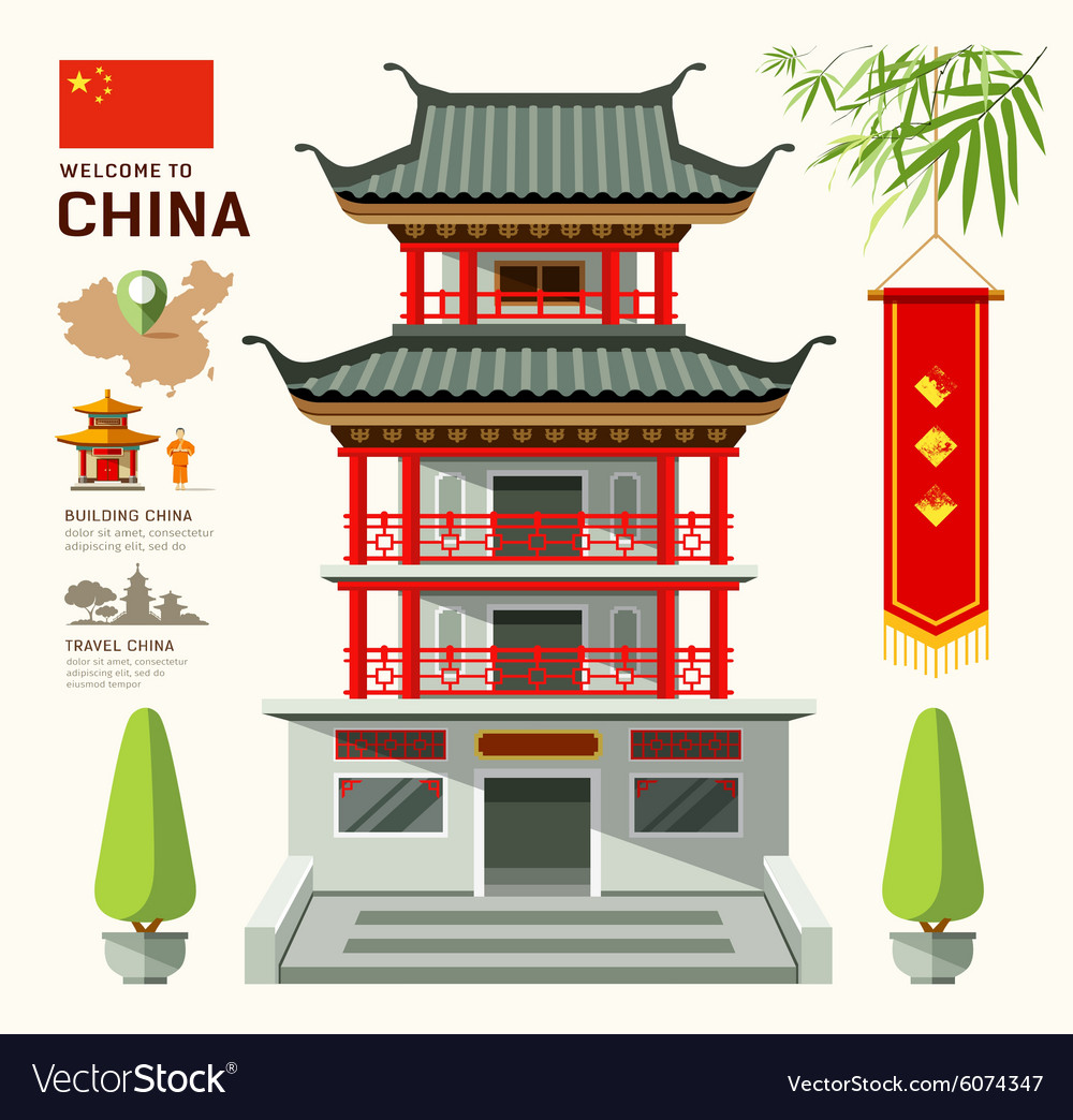 Building of China travel design