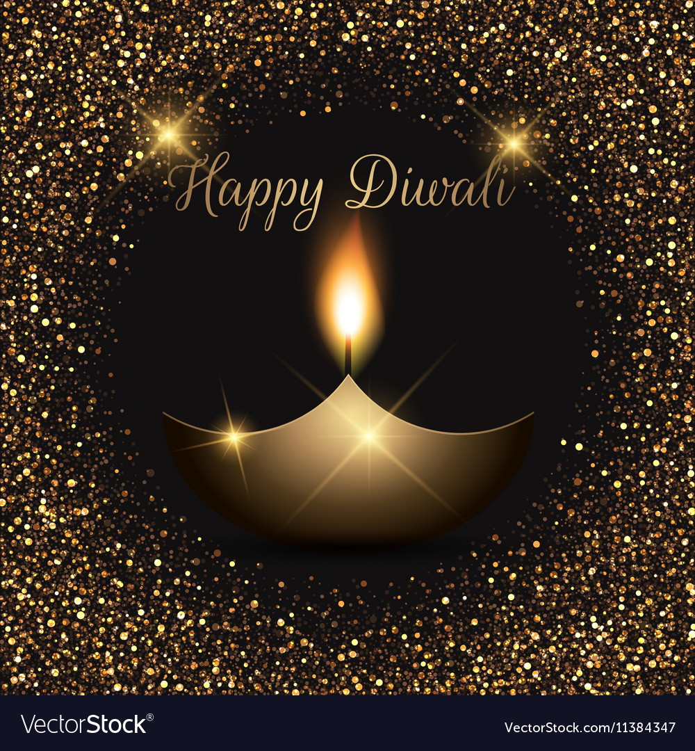 Glittery Diwali celebration background