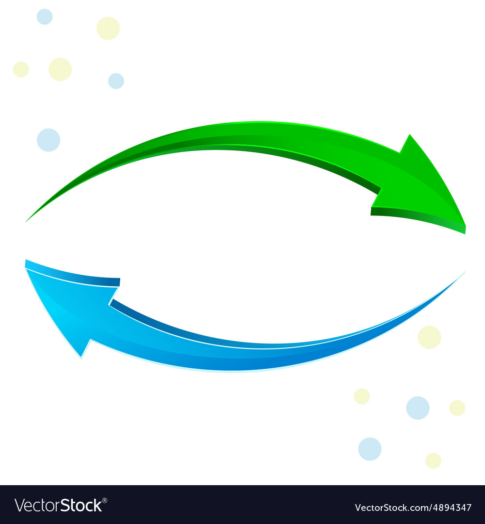 Green blue arrow 3d