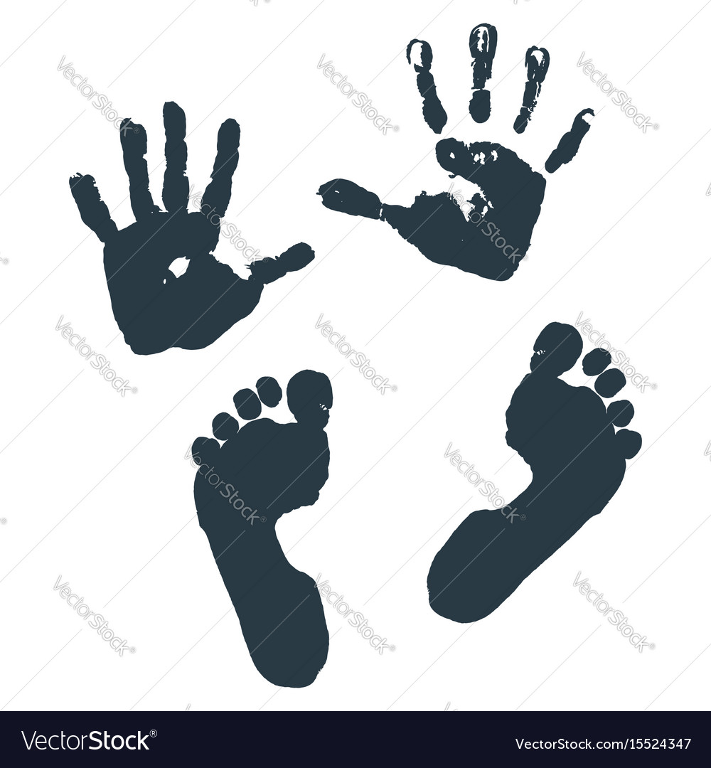 Imprint of children s palms and feet