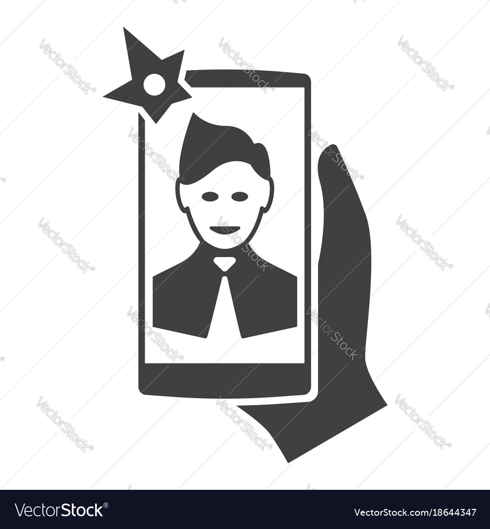 Selfi on the smartphone modern icon