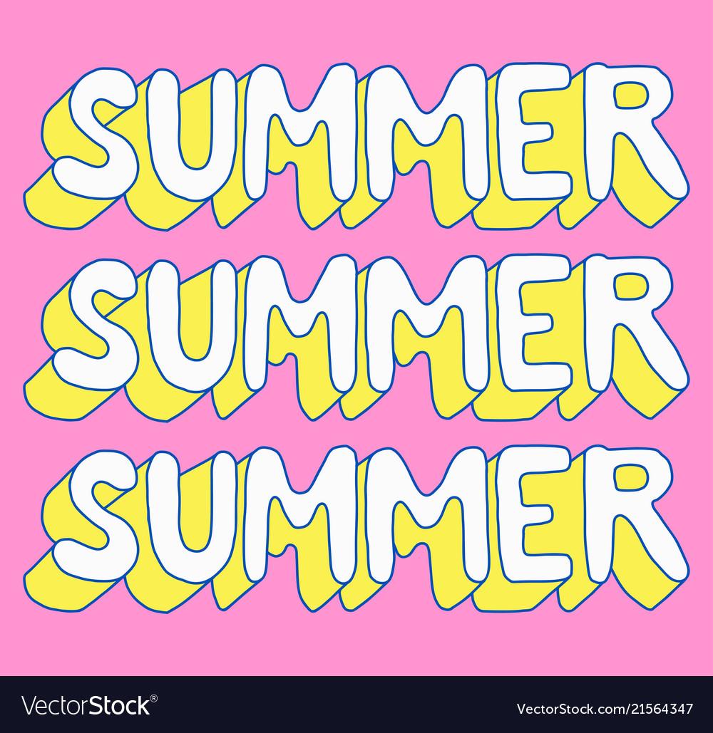 Summer poster summer sale retro cartoon