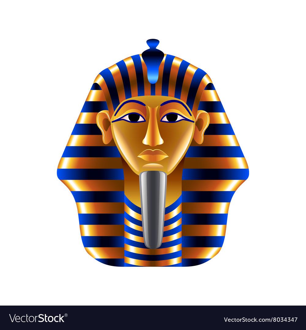 Tutankhamuns mask isolated on white