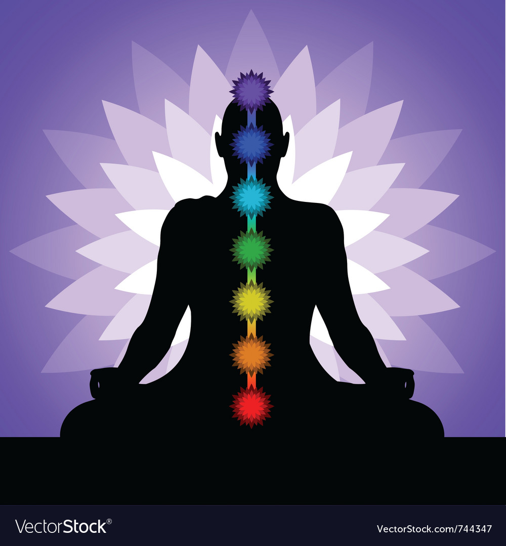 Yogi with chakras