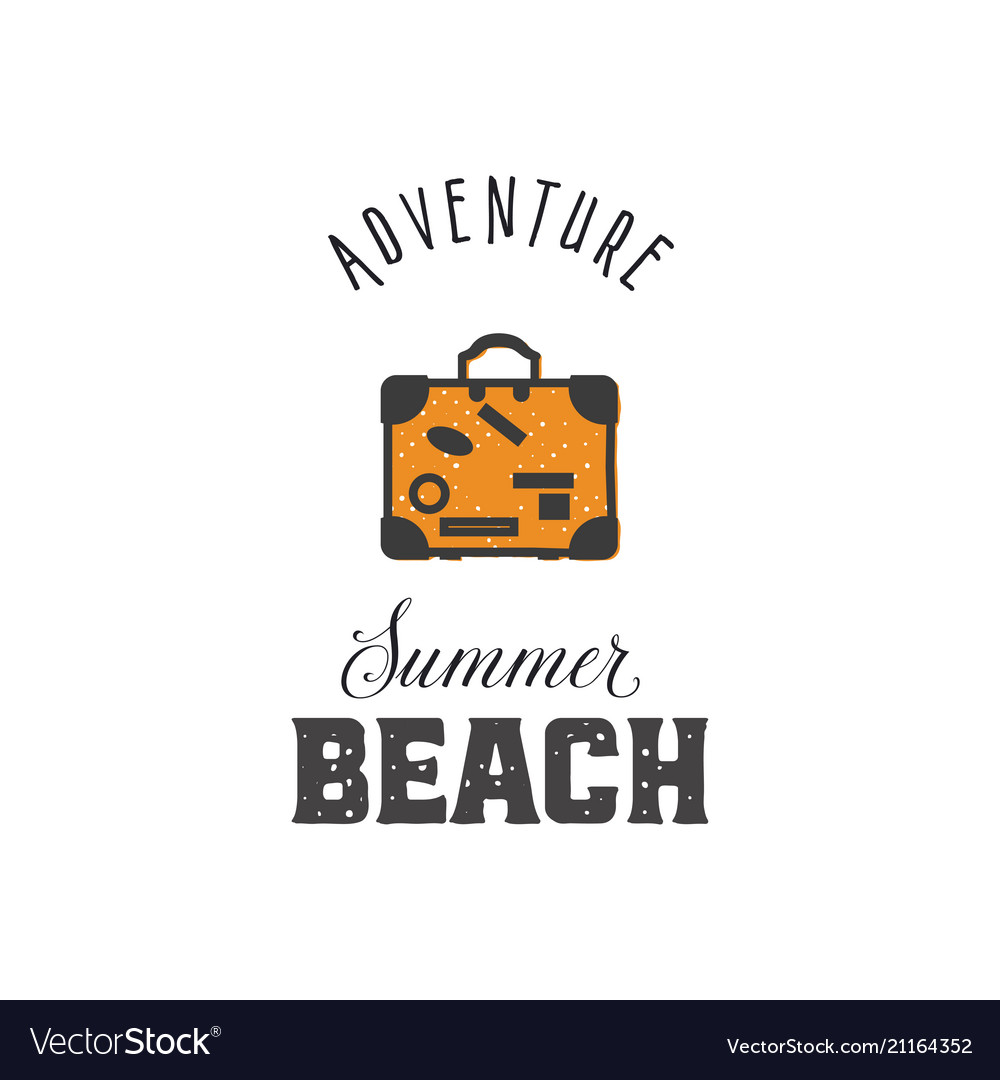 Adventure - summer beach vintage style print